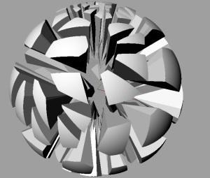 exploded voronoi sphere